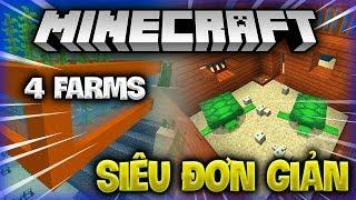 Download 4 LOẠI FARM SIÊU ĐƠN GIẢN BẠN CÓ THỂ LÀM TRONG MCPE 1.5/ MINECRAFT 1.13- Minecraft Tutorial Video