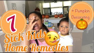 Download 7 SICK KIDS 🤒 & MY HOME REMEDIES| PUMPKIN DECORATING🎃 Video