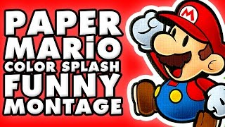 Download Paper Mario Color Splash Funny Montage! Video