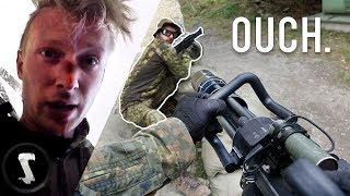 Download Airsoft CHEATER Gets LIT-UP with 2800 RPM MINIGUN (instant karma) Video