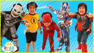 Download Kids Costume Runway Show Pretend Play with Disney Superheroes, Pj Masks, Rusty Rivets! Video