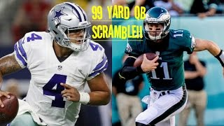 Download WHO CAN GET A 99YD QB SCRAMBLE?!? DAK PRESCOTT VS CARSON WENTZ!! Video