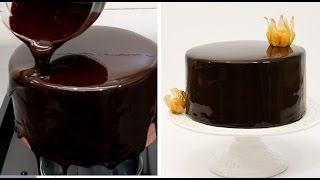 Download Chocolate Mirror Glaze Cake Recipe CHOCOLATE HACKS by Cakes Step by Step Video