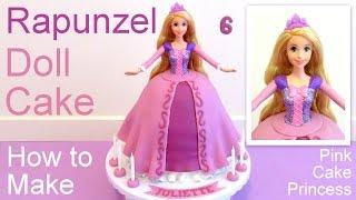 Download Tangled Rapunzel Cake How to Make a Disney Princess Rapunzel Doll Cake Video