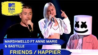 Download Marshmello Ft. Anne-Marie & Bastille - FRIENDS / HAPPIER | 2018 MTV EMA Live Performance Video