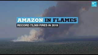 Download Amazon in flames: Record 73,000 forest fires in 2019 Video
