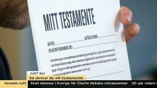 Download Så skriver du ett testamente - Nyhetsmorgon (TV4) Video