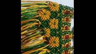 Download Macrame bag design, macrame flower bag design Video