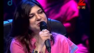 Download Sa Re Ga Ma Pa Gane Gane Tomar Mone - August 28, 2014 - Pronoy and Karthik Baul Video