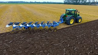 Download On-Land Ploughing | John Deere 7270R + 8 furrow Lemken Diamant 11 | KMWP Ploegen / Pflügen Video