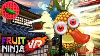 Download FESTIVE FRUIT SLASHING! - Let's Play Fruit Ninja VR (Christmas Update) (HTC Vive VR Gameplay) Video