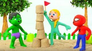 Download SUPERHERO BABIES PLAYING IN THE SANDBOX ❤ SUPERHERO PLAY DOH CARTOONS FOR KIDS Video