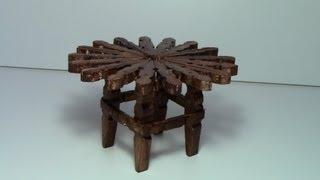 Download tutorial mesa con pinzas de madera / tutorial table with wooden pegs Video