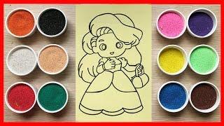 Download Đồ chơi TÔ MÀU TRANH CÁT công chúa búp bê tóc dài Colored Sand Painting Toys (Chim Xinh) Video