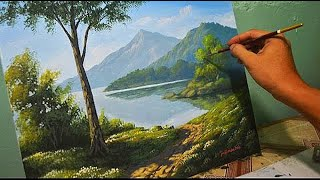 Download Acrylic Landscape Painting Lesson - Morning in Lake by JmLisondra Video