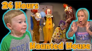 Download 24 Hours in a Haunted House with Halloween Animatronics for Jagger's Birthday! | DavidsTV Video