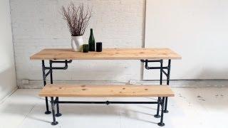Download HomeMade Modern, Episode 3 - DIY Wood + Iron Table Video