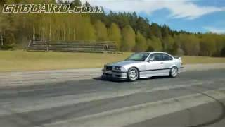 Download [4k] Tuned Nissan GTR E85, ECU + exhaust vs BMW M3 3,2 E36 Turbo 670 HP Video