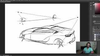 Download A quick & easy car sketching technique I want to show you Video