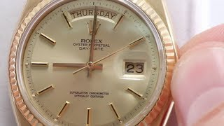 Download How to Set Day & Date on Your Rolex Watch Video