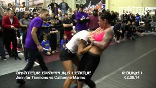 Download AGL 7 • Jennifer Timmons vs Catherine Marino • Amateur Grappling League® Women's Division Video