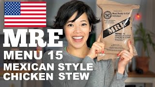 Download MRE Menu 15 Mexican Style Chicken Stew | Meal Ready-to-Eat Taste Test Video