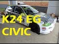 Download Honda Civic EG Hatch K24 Swap Project Video