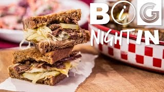 Download Reuben Sandwich & Purple Slaw Recipe | Big Night In Video