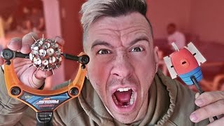 Download MOST DANGEROUS TOY OF ALL TIME!! *BLOOD ALERT* (EXTREME NERF GUN / ZING BOW / SLING SHOT EDITION!!) Video