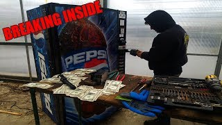 Download FOUND MONEY BREAKING INTO ABANDONED VENDING MACHINE! How much money was left in the vending machine? Video