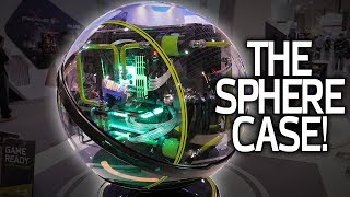 Download A ROUND CASE? InWin's WinBot & ″Floating″ Concept Designs + EKWB Cameo! Video
