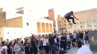 Download INSTABLAST! - INSANE MACBA Skateboarding!! Kickflip A SurfBoard! Gnarly Skater Vs Biker Slam!! Video