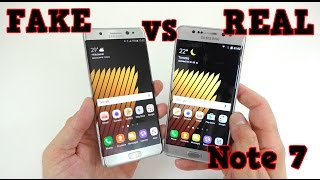 Download FAKE vs REAL Samsung Galaxy NOTE 7 - Buyers BEWARE! 1:1 Clone Video