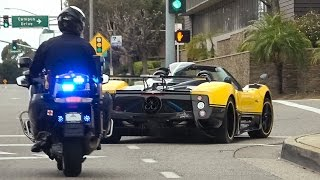 Download The Pagani Cinque Roadster is a Police Magnet Video