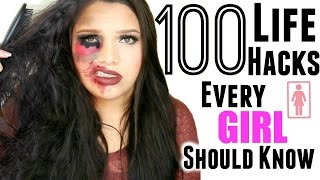 Download 100 Beauty Life Hacks Every Girl Should Know! Ultimate Life Hacks! Video