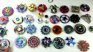 Download Tons of Round Fidget Spinners: Ferrris Wheels, Tires, Sheilds, Flowers, etc Video