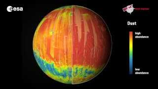 Download Mars mineral globe Video