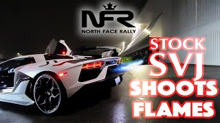 Download Owner Makes STOCK LAMBORGHINI AVENTADOR SVJ Shoot FLAMES!! Video