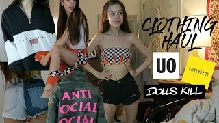 Download GIANT CLOTHING HAUL!! soaesthetic, dollskill, urban outfitters, antisocial social club, + MORE Video