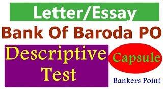 Download Descriptive writing (Letter Essay) Capsule For Bank Of Baroda Po   BOB PO Video