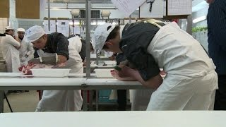 Download French apprentices hope to be a cut above in butcher competition Video