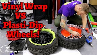 Download THE DIFFERENCE BETWEEN VINYL WRAP AND PLASTI DIP YOUR WHEELS. Which One Do You Prefer? Video