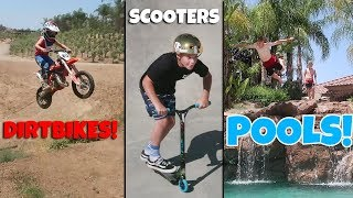 Download AWESOME DIRTBIKES, SCOOTERS & POOLS Video