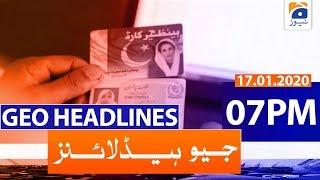 Download Geo Headlines 07 PM   17th January 2020 Video