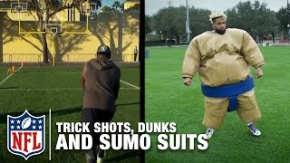 Download Trick Shots, Slam Dunks, and Sumo Suit Fun with Odell Beckham Jr., Marquette King & More! | NFL Video