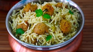 Download Soya chunks pulao- Meal maker pulav recipe Video