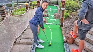 Download Epic No Look Hole in One | Brodie & Kelsey vs. GM Golf & Zac | Pirate's Cove Mini Golf Back 9 Video