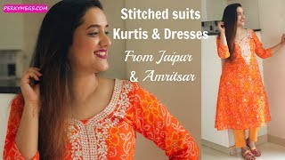 Download Stitched Suits Kurtis & Dresses from Jaipur & Amritsar   Latest Kurti designs   Perkymegs Video