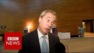 Download Nigel Farage 'flattered' by Trump tweet - BBC News Video
