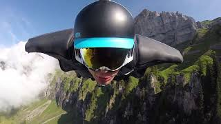 Download Wingsuit Action in Switzerland. Aviapeople are flying HD 1080p Video